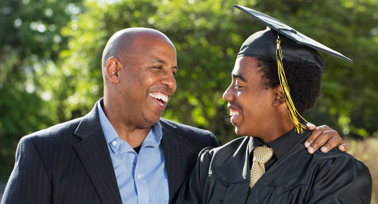 Parent with his high school graduate