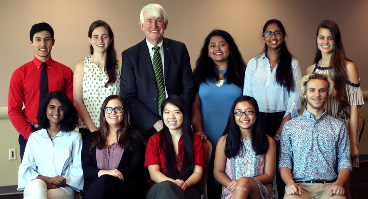 USF Provost Wilcox with National Merit Scholars