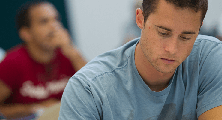 Student preparing for the SAT or ACT