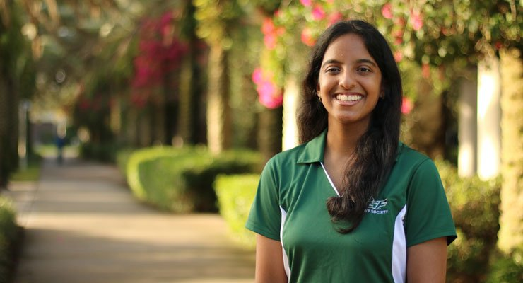 One of USF's National Merit Scholars.