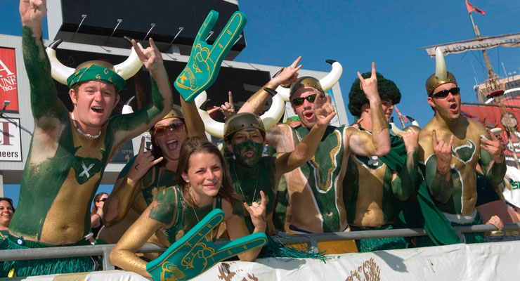 USF students at a USF sporting event.