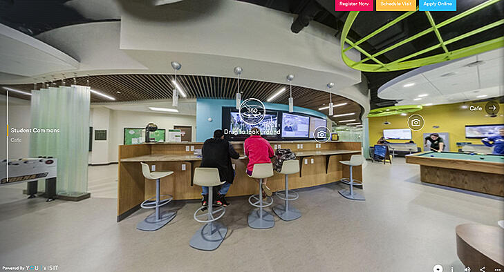 USF St. Petersburg virtual tour of the student center