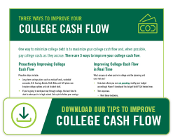 Tips for ways you can improve your college cash flow