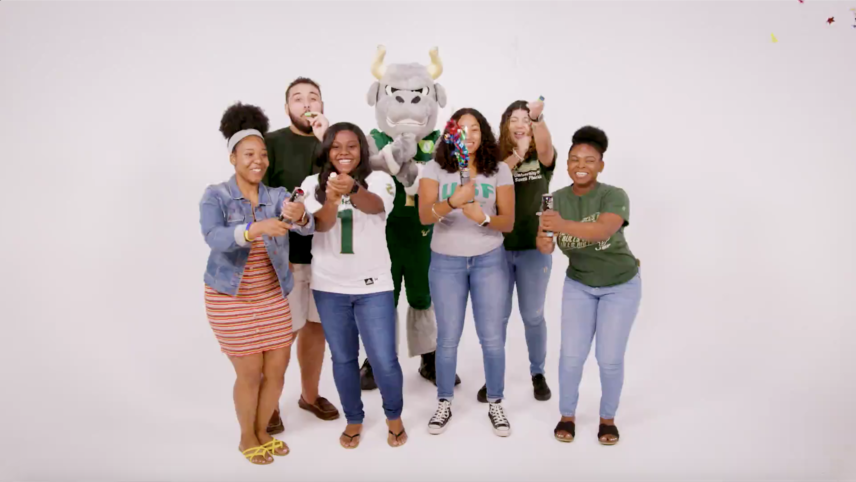 USF Celebrating acceptance to the University.